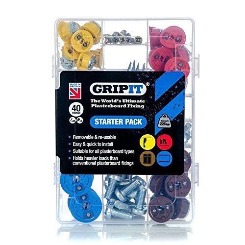 GripIt Starter Kit Plasterboard Fixings For Stud Walls - £16.60 (Prime) / £21.35 (non Prime) at Amazon
