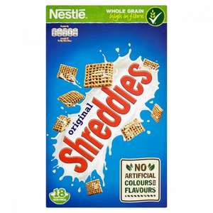 Nestle Original Shreddies Cereal 750g now only £1 in Poundstretcher