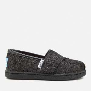 TOMS TODDLERS' SEASONAL CLASSIC GLIMMER SLIP ON PUMPS. Was £36 now £8 + £1.99 del @ The Hut