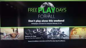Xbox live gold FREE - Play Multiplayer Free from 15-18 February