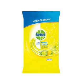 Dettol Power and Fresh Citrus Zest 126 Wipes was £5 then £2.50 now £1.63 instore @ Tesco