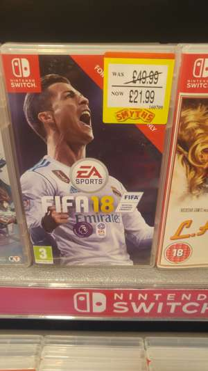 Fifa 18 for nintendo switch £21.99 at Smyths