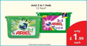 Ariel 3 in 1 Pods - 12 washes - found instore @ Savers Stevenage - £1.99