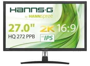 "HannsG HQ272PPB 27"" WQHD 2K IPS Monitor £179.98 @ Ebuyer"