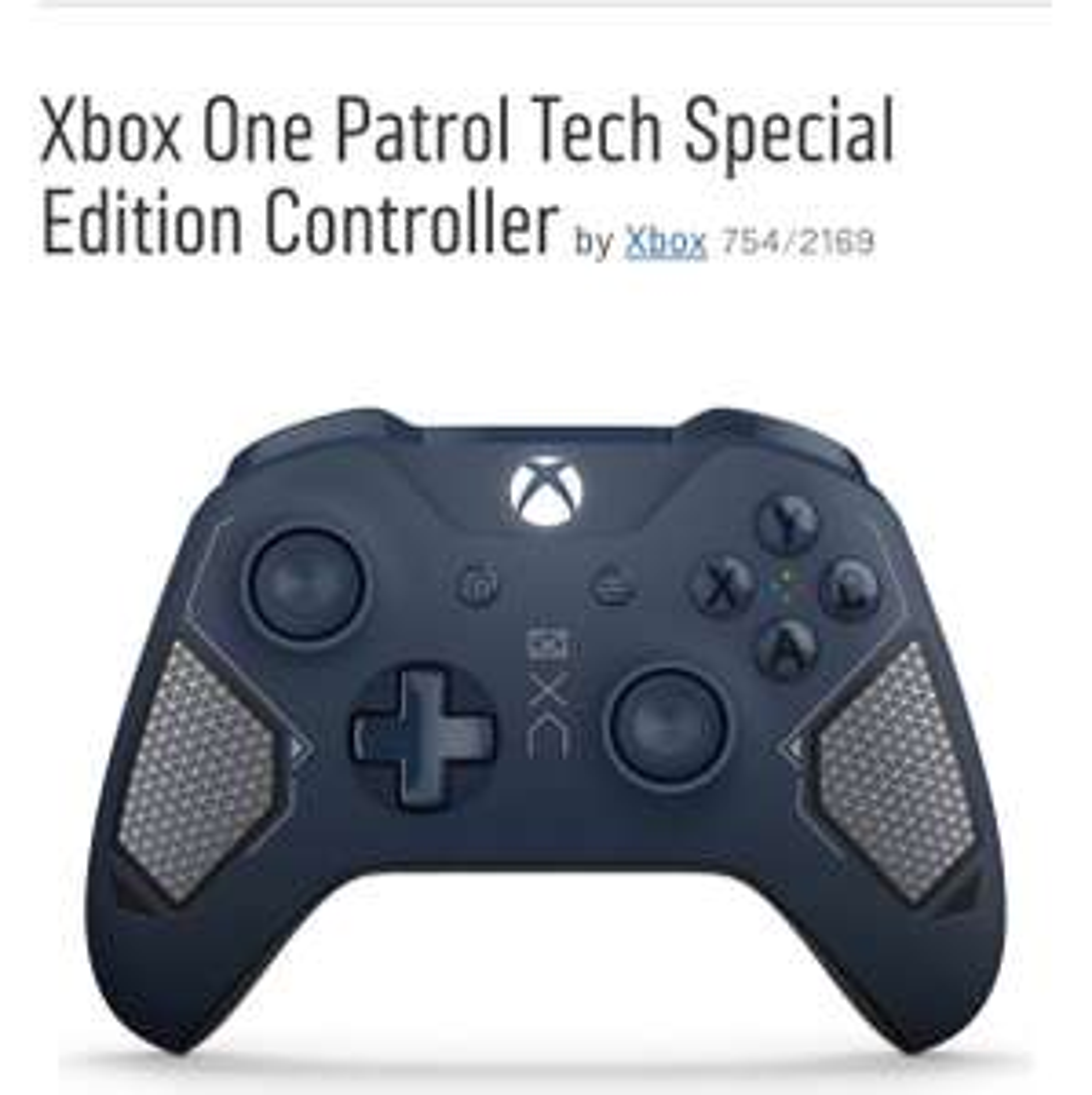 Xbox One Patrol Tech Special Edition Controller pad £42.99 Argos
