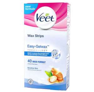 Veet Sensitive Wax Strips - Pack of 40 £5.99 (Prime) / £9.98 (non Prime) at Amazon