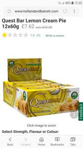 75% off be quick as you don't usually see Quest bars this cheap, plus buy one get one half price Quest bars x 12 - £7.62 @ Holland & Barrett