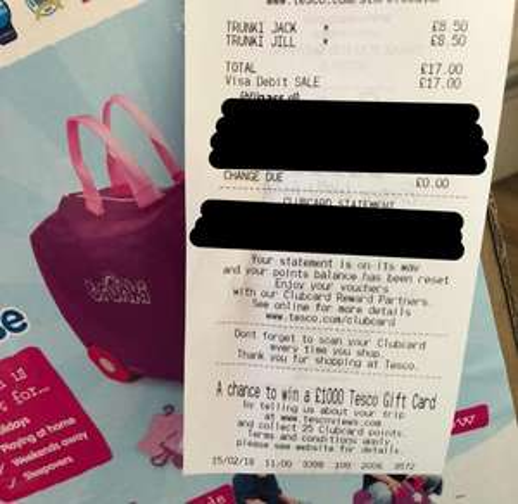 Trunki pink/blue Tesco £8.50 instore (Stafford)