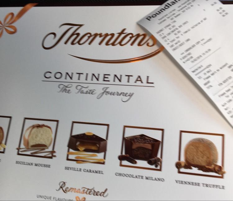 Thornton's Continental Box of Chocolates 284g £2 @ Poundland