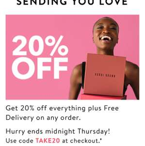 Bobbi Brown 20% off with free delivery
