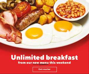 Frankie and Benny's Unlimited Breakfast back this weekend.
