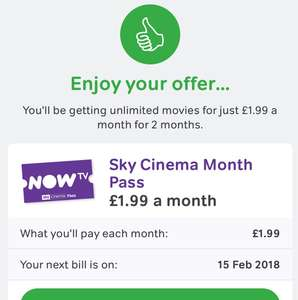 Another Now TV cinema offer - £3.98 for 2 months on cancellation