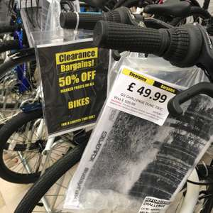 Cycle 50% off from marked price at Argos Clearence outlet Stanley DH09 0XG