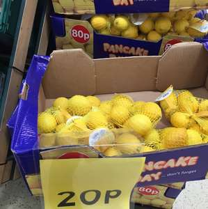5 in a pack Lemon 20p at Tesco Instore