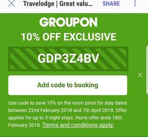 10% Travelodge discounts code