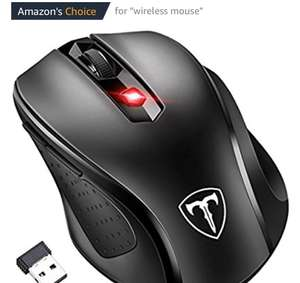 Patuoxun : [Updated Version] Wireless Mouse, Patuoxun 2.4G USB Wireless Mice Optical PC Laptop Computer Cordless Mouse with Nano Receiver, 6 Buttons, 2400 DPI 5 Adjustment Levels for Windows Mac Macbook Linux - £7.99 (Prime) £11.98 (Non Prime) @ Sold