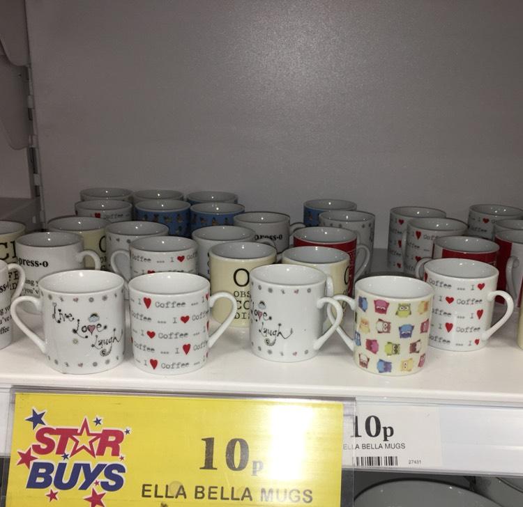 10p espresso mug -  97% off @ HomeBargains