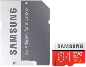 2x Samsung 64GB Evo Plus Micro SD Card (SDXC) UHS-I U3 + Adapter - 100MB/s £30.40 or £15.20 each @ mymemory