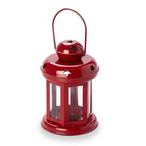 Lantern With Cut Out Stars Tealight Holder Was £3 Now £1.50 - 3 Colours To Choose From Free C&C @ B&Q