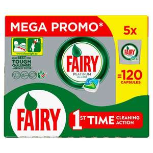 120 Fairy Platinum Dishwasher Tablets (10p per wash, quick maths) - £12 @ Tesco
