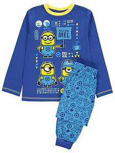Despicable me3 boys pyjamas age 3-4, 4-5 was £9 now £5 OR onesie for £6 @ asdageorge