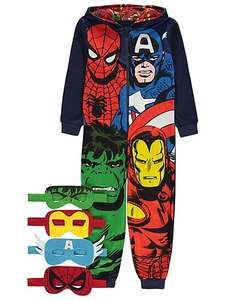 Marvel childrens hooded onesie & 4 masks,age 8-9,10-11,11-12 £8 @ asdageorge