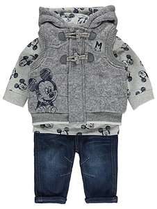 3 piece set- Mickey Mouse top + jeans + gilet 12-18 months £10 seriously cute @ asdageorge