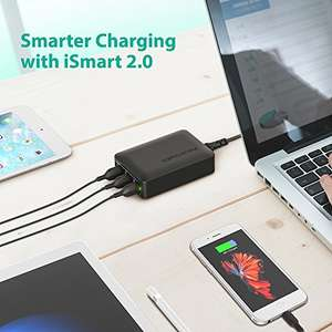 RAVPower 60W 6-Port USB Charging Station with 12A Total Output £12.74 Prime £15.73 Non Prime Sold by Sunvalleytek-UK and