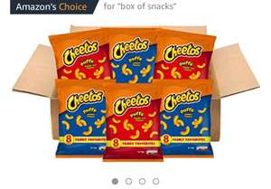Walkers Cheetos Snacks Box, Assorted Flavors, Pack of 48 x 13g   £6.99 (Prime) / £11.74 (non Prime) at Amazon