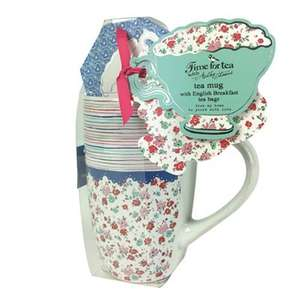 Ashley Thomas at Debenhams floral mug & tea gift £3.60 delivered
