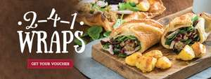 2-4-1 on our delicious Yorkie Wrap @ Toby carvery