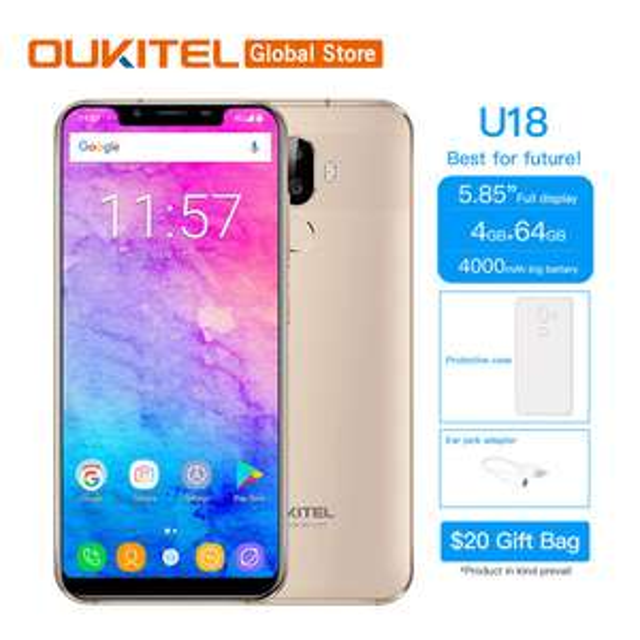 Oukitel U18 - £113.98 - Ali Express (Oukitel Global Store) - USE APP