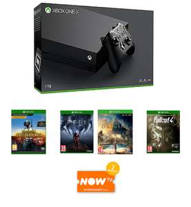 Xbox One X + PUBG + Assassin's Creed: Origins + Prey + Fallout 4 + NOW TV £459.99 @ Game