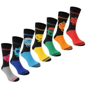 Sports Direct - Mr Men pack of 7 socks reduced from £18.99 to £8.99 / £13.98 delivered @ Sport direct