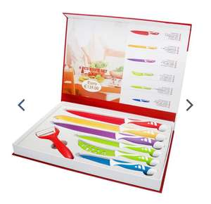Ceramic 6 Piece Kitchen Knife Set with FREE Fruit & Veggie Peeler £8.99 delivered @ Weeklydeals4less
