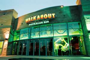 Walkabout - Burger, fries and Coke Zero for £4 all day every day or £1 extra to upgrade to pint of Fosters