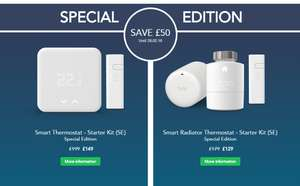 Tado £50 discount till 28.02.18 - Smart Thermostat - Starter Kit (SE) £149