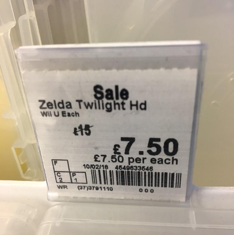 Zelda twilight princess - Wii U - £7.50  at Asda (hunts cross Liverpool)
