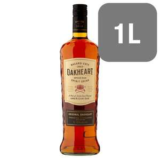 Bacardi Oakheart Rum 1L now £17 on sale at Sainsburys