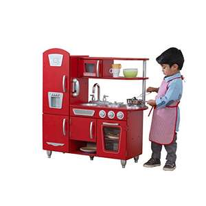 KidKraft Vintage Wooden Play Kitchen - Red, £80.00, Amazon UK from their UPTO 50% Toys sale