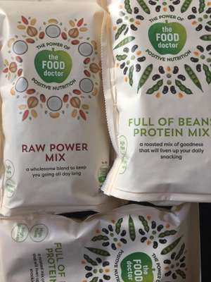 The Food Doctor protein nutrition mix 120g bags 3 for £1! RRP£2.50! @ fultons Full of beans ect
