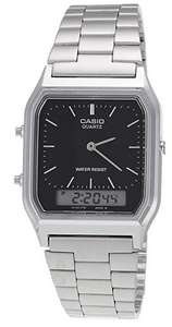 Casio Analogue and Digital LCD Combi Stainless Steel Watch £19.99 @ 7dayshop