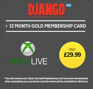 Xbox Live 12 Month Sub w/ Django Unchained HD (Rental) £29.99 @ Rakuten TV
