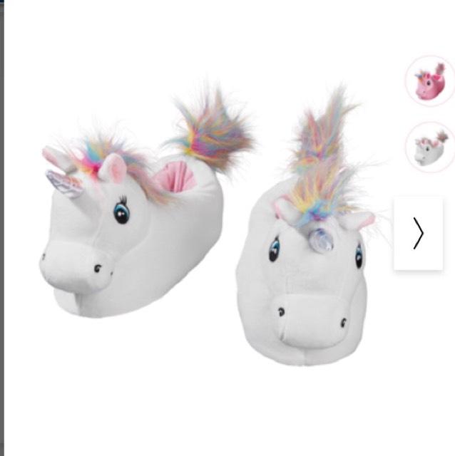Unicorn slippers £4.99 @ Lidl
