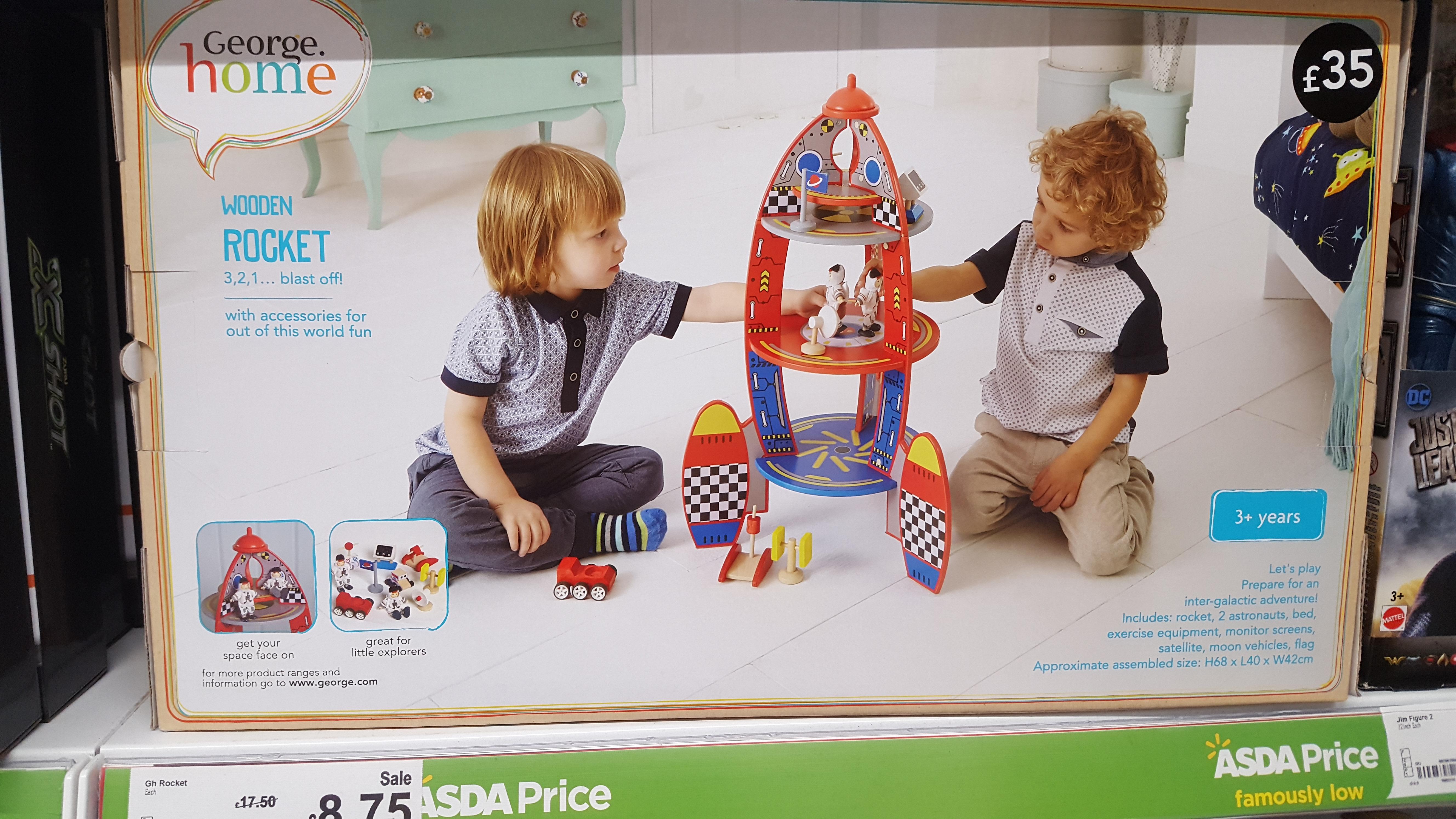 wooden rocket - £8.75 instore @ asda tilehurst