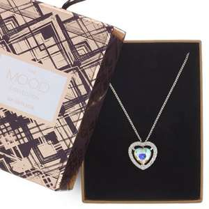 Mood Aurora Borealis Crystal Heart Necklace now £4.20 Del w/code @ Debenhams - more in OP - Mothers Day?