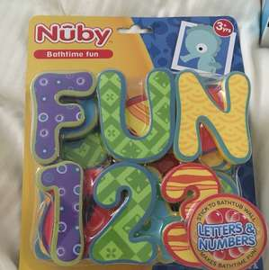 Nuby bath time fun letters & numbers £1.88 instore @ Boots