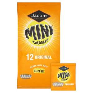 Jacobs Mini Cheddars Original Cheese 12 x 25g Half Price Was £2.75 Now £1.37 @ Tesco