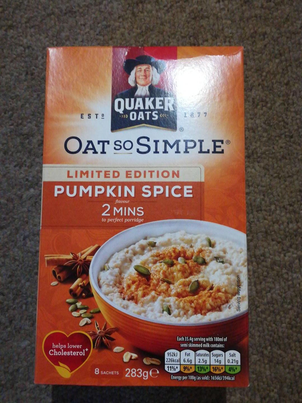 Pumpkin Spice Oats So Simple 8 Sachets £1 @ Poundworld