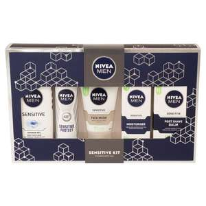 Nivea Sensitive Kit Gift Pack ( five full size items) £6.00 @ Morrisons Online/ £6.99 @ Superdrug C&C